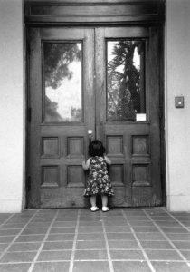 Child at School Doors